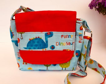 Small shoulder bag carrying case for Kita and kindergarten Dinos