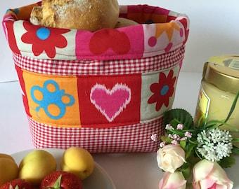 Bread Basket Bread Basket Stoffkorb storage gift red Checkered