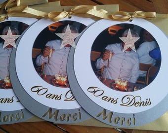 Thank you birthday silver gold wedding invitation
