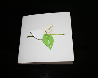 Baptism Nature themed birth announcement