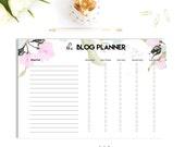 SALE - Printable Blog Planner, Blog Post, Social Media Planner, Planner Agenda, A5, A4/Letter Planner Insert, Printable Planner, Filofax