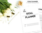 Goal Planner PRINTABLE, 2018 Planner, Productivity Planner, Goal Setting, 2018 Goals, Project Planner, Habit Tracker, Success Planner