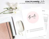 Goal Planner PRINTABLE, Productivity Planner, Goal Planner, 2018 Goals, Project Planner, Success Planner, Goal Setting Planner