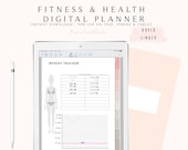 Digital Planner for Goodnotes, Digital Fitness Planner, Fitness Planner Goodnotes, Fitness Journal,  Digital Journal with Hyperlink Tabs