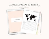 Digital Planner for Goodnotes, Digital Travel Planner, 2019 Digital Planner, iPad Planner, Digital Journal with Hyperlink Tabs, Digibujo