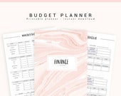 Finance Planner, Budget Planner Printable, Financial Planner, Printable Budget Planner, Budget Printable Inserts, Bills Tracker, Expenses