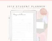 Digital Planner for Goodnotes, Digital Student Planner, 2019 Student Digital Planner, Tablet/iPad Planner, Digital Journal with Hyperlinks