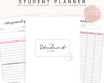 College Planner, Academic Planner, Student Planner, 2019 Student Planner, Study Planner, College Planner, School Planner, Printable Planner