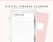 Digital Planner for Goodnotes, Digital Budget Planner, Digital Finance Planner, iPad Planner, Digital Journal with Hyperlink Tabs, Digibujo
