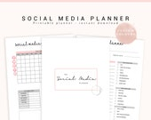 Social Media Planner, Blog Planner, Social Media Tracker, Business Planner Printable, Home Business, Business Marketing, Custom Colour