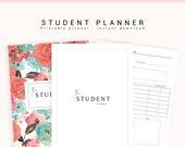 Student Planner, Study Planner, Printable Academic Planner, 2019 Student Planner, College Planner, Back to School. School Planner