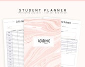 Student Planner, College Planner, Academic Planner Printable, 2019 Student Planner, Study Planner, School Planner, Printable Planner