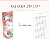 Household Planner, Cleaning Planner, Home Planner, Printable Household Binder, Mom Planner, Home Binder, Family Planner, Home Organization
