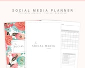 Social Media Planner, Printable Blog Planner, Business Planner, Social Media, Marketing Planner, Social Media Tracker, Printable Planner