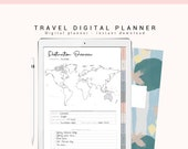 Digital Travel Planner, Vacation Digital Planner, Digital Trip Planner, 2020 Digital Travel Journal, Digital Journal with Hyperlink Tabs