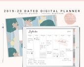 2019 2020 Digital Planner, Dated Digital Planner, Dated Goodnotes Planner, iPad Planner, Digital Weekly Planner, Landscape Digital Hyperlink