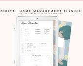 Digital Home Planner, Digital Household Planner, Home Digital Planner for Goodnotes, iPad Planner, Digital Family Binder with Hyperlink Tabs