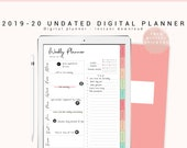 Undated Digital Planner, 2019-2020 Digital Planner, Digital Planner for Goodnotes, iPhone/iPad Planner, Digital Journal with Hyperlink Tab
