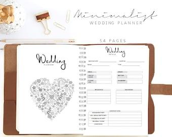 wedding planner printable wedding organizer wedding binder etsy