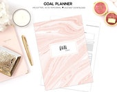 Goal Planner, Printable Goal Planner, Goal Setting, 2019 Planner, Project Planner, Productivity Planner, Success Planner