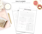 Daily Planner, Printable Daily Schedule, To Do List, Daily Inserts, Day Planner, Printable Planner, A5 Planner, Personal Planner Inserts