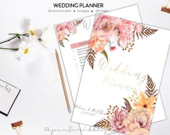 wedding planner printable wedding organizer wedding binder wedding inserts wedding planner book wedding binder bride engagement gift