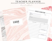 2018-2019 Teacher Planner, Printable Lesson Planner, Classroom Planner, Homeschool Planner, School Planner, Teaching Printable, Lesson Plan