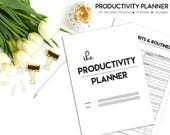 Productivity Planner, Habit and Routines, Project Planner, Goal Project Planner, Habit Tracker, Printable Planner, Academic Planner