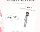 Fitness Planner, Fitness Journal, Fitness and Health, Wellbeing Planner, Health Planner, Printable Fitness Planner, Workout Planner