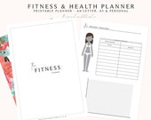 Fitness Planner, Fitness Journal, Health and Fitness, Wellbeing Planner, Health Planner, Fitness Tracker, Printable Fitness Planner