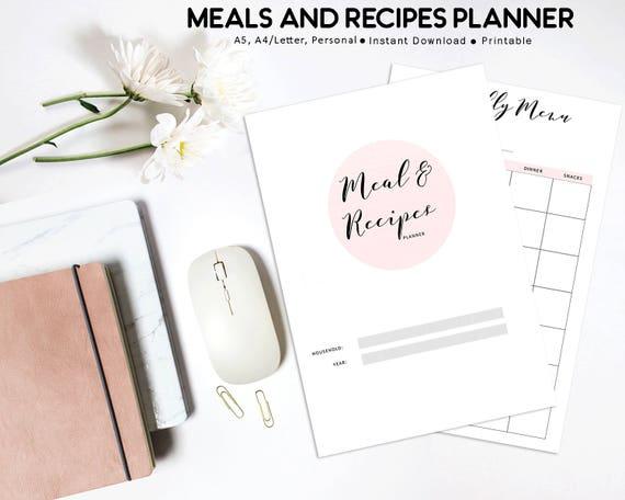 meal planner menu planner grocery list shopping list etsy