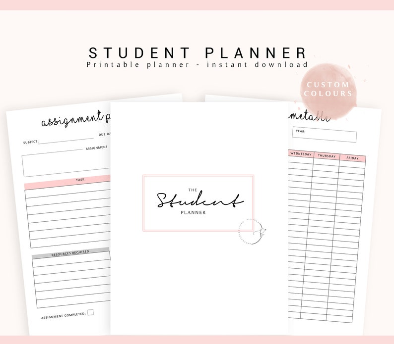 picture about Study Planner Printable identify University Planner, Instructional Planner, Scholar Planner, 2019 College student Planner, Analyze Planner, School Planner, Faculty Planner, Printable Planner