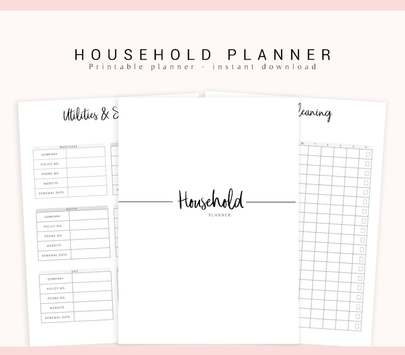 photograph regarding Mom Planner Printable called Relatives Planner, Cleansing Planner, Dwelling Planner, Printable House Binder, Mother Planner, Dwelling Binder, Spouse and children Planner, Dwelling Small business