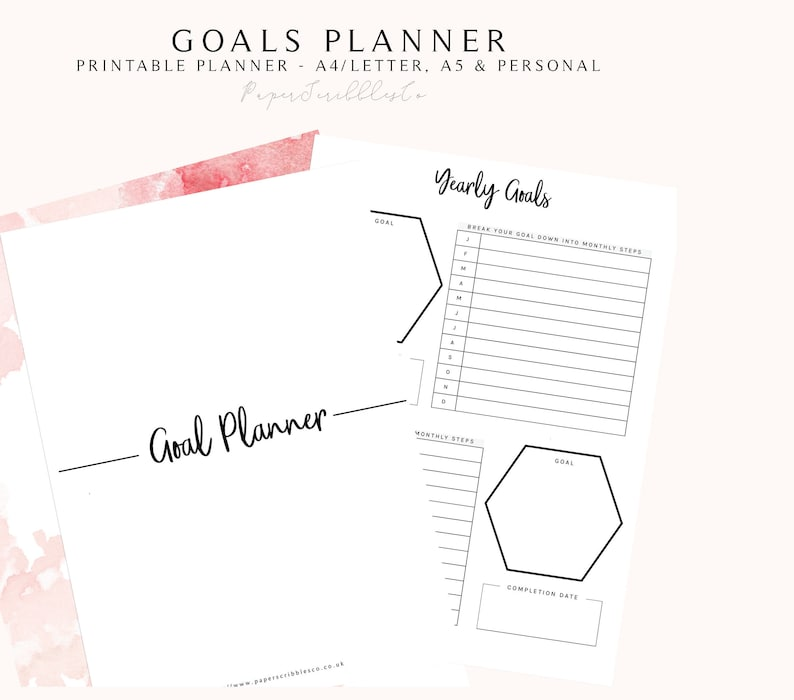 graphic about Goals Printable referred to as Reason Planner PRINTABLE, 2018 Planner, Productiveness Planner, Intent Surroundings, 2018 Targets, Venture Planner, Practice Tracker, Achievement Planner