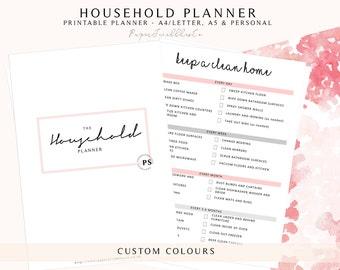 PRINTABLE Home Management Binder | House Planner | Household Planner | Printable Planner | Family Planner | Household Management Planner