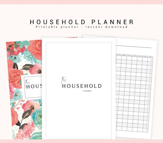 Household Planner, Cleaning Planner, Home Planner, Printable Household on home management printables, home organization printables, home notebook printables, organized christmas printables, home project printables, outdoors printables, home organizer printables, home business printables, blog planning printables,