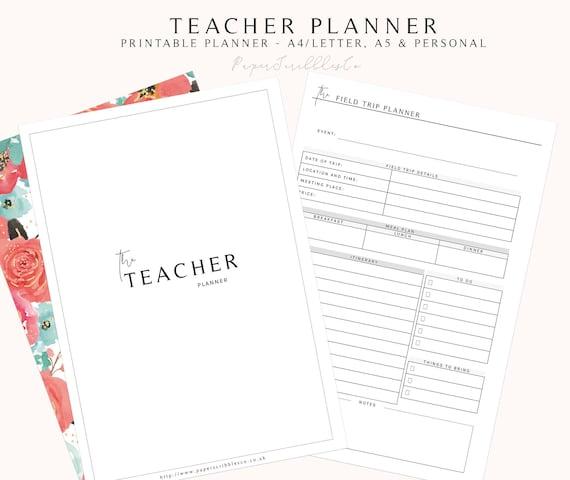 teacher planner lesson planner printable 2018 teacher etsy