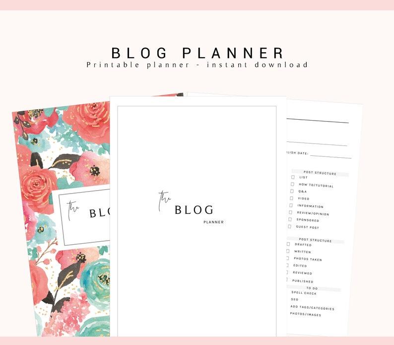 Blog Planner Printable, Blog Bundle Kit, Blog Binder, Blogging Planner,  Social Media Planner, Printable Planners, Blogging Kit Inserts