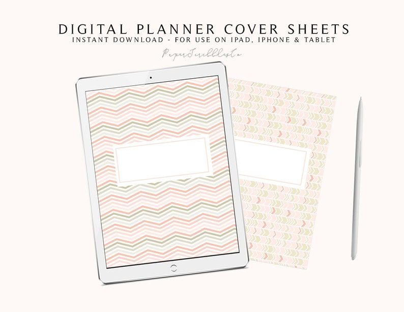 6 Digital Planner Cover Pages Digital Notebook Cover Sheet image 0