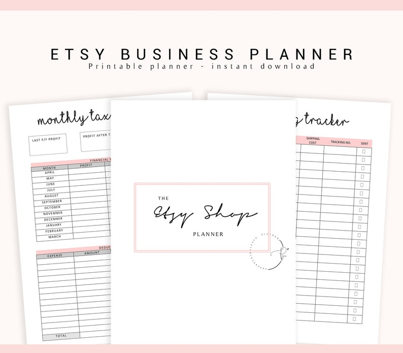 Etsy Business Planner Etsy Shop Planner Business Printable image 0