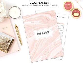 PRINTABLE Blog Planner | Blogging Planner |  Blog Organizer | Social Media Planner | Blog Kit | Printable Planner |  Blog Post Planner