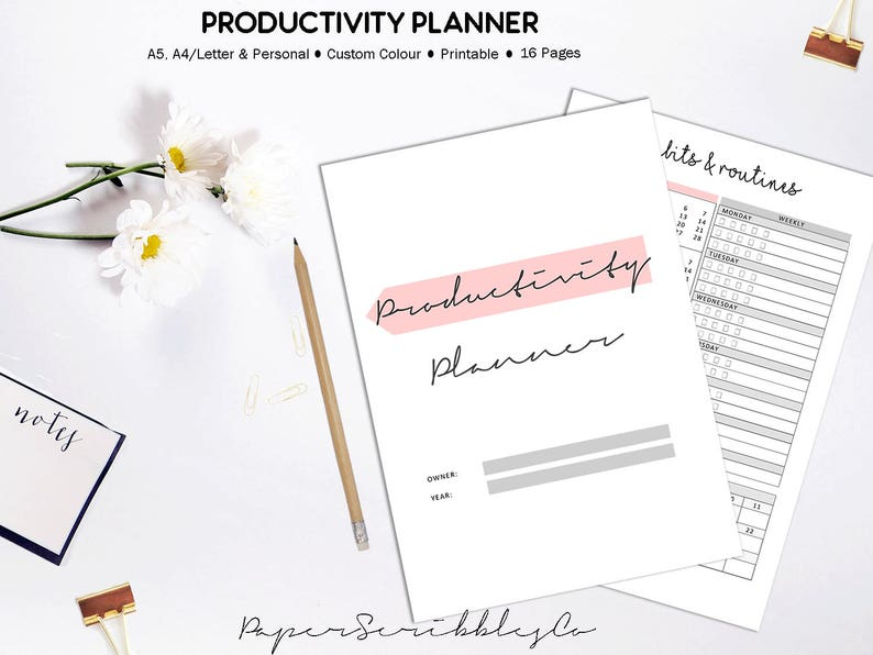 Productivity Planner Success Planner Project Planner Goal image 0