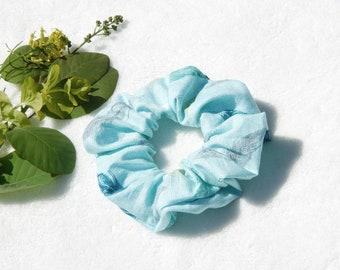 Scrunchie hair elastic hair, blue, feathers, scrunchies, scrunchie patterned hair accessory, hair clip