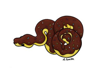Chocolate Donut Snake