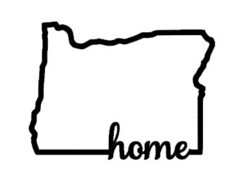 Oregon Outline Vinyl Decal State Decal Oregon home vinyl decal Oregon decal outline of state Oregon car decal
