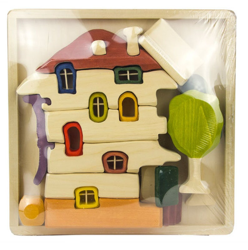 Hundertwasser House Free Shipping Unique Hand-painted Building Blocks