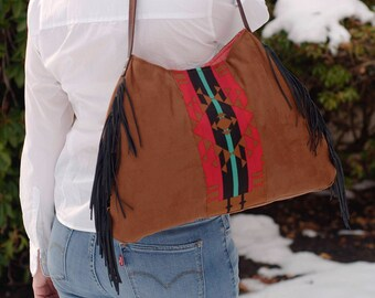 Southwestern Aztec Shoulder Hobo Handbag Purse
