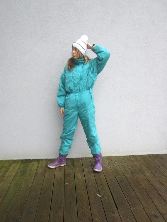 Vintage Women's Killtec Ski Suit Vintage Mint Gree