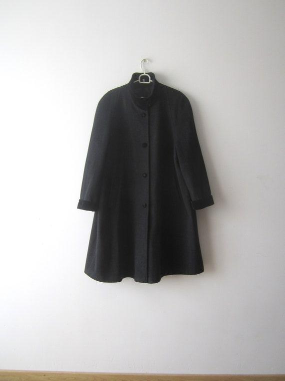 Vintage Grey Coat Women's Wool blend Coat Romantic