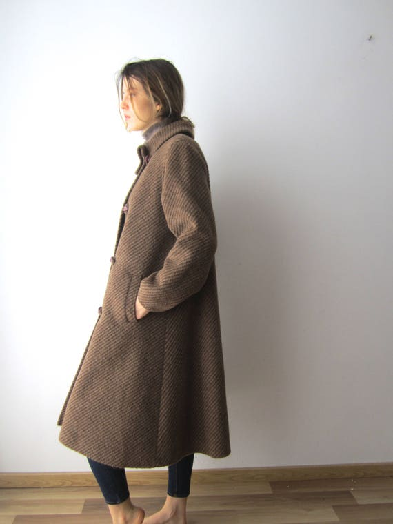 Medium Romantic Oy Midi Office Lady Brown Coat Womens Wool Winter Size Alpaca Women's Vaato Coat Vintage Coat Blend Coat xvFOOq